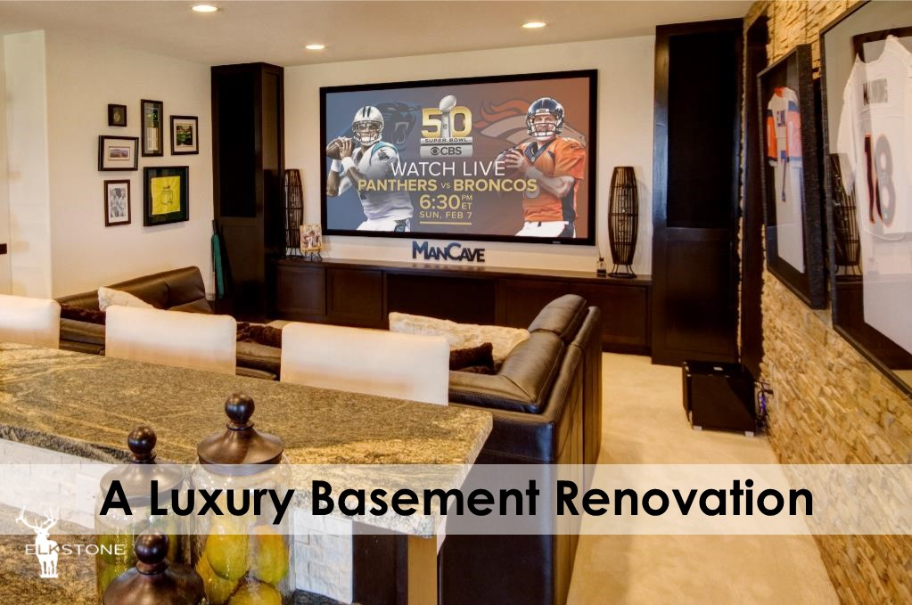 luxury basement renovation elkstone basements