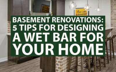Basement Renovations: 5 Tips for Designing a Wet Bar for Your Home