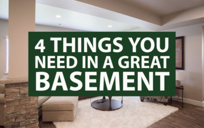 4 Things You Need in a Great Basement