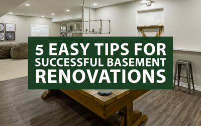 5 Easy Tips for Successful Basement Renovations