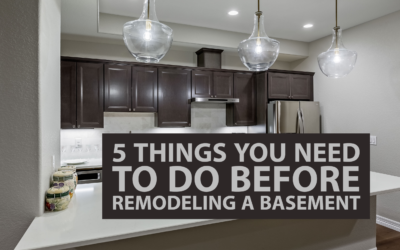 5 Things You Need to Do Before Remodeling a Basement